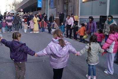 Ronda en la calle