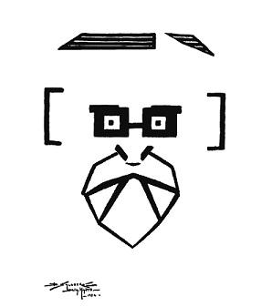 Arquicaricatura de Pedro Figari por Salguero de la Hanty. Primer Premio del VII Salón de Humoristas de la Mutualidad de Bellas Artes de Buenos Aires, 1924.