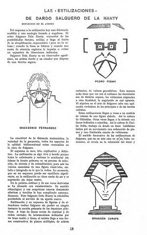 Nota sobre exposición de Dardo Salguero en la revista No 11 de la Cruz del Sur, Montevideo, febrero de 1926