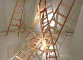 Instalación de escaleras de madera