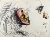 Grafito y crayola sobre papel, 64 x 100 cm. Colección Museo Nacional de Artes Visuales Foto: Pablo Bielli