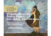 Invitación sobre imagen del cuadro realizado por Pedro Figari de su amiga Victoria Ocampo