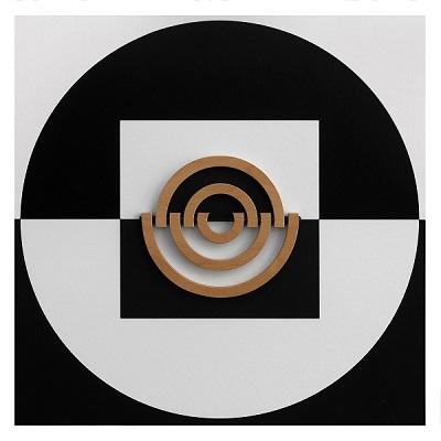 Daniel Gallo. Círculos y Cuadrados 2, técnica mixta, 61 x 61 cm. 2013