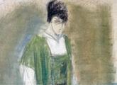 61.5 x 37 cm. Pastel sobre cartón. 1918