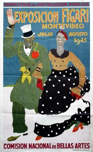 Afiche para la expo de 1945 en el Teatro Solís