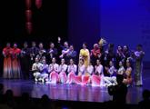 elenco sobre el escenario