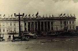 Capitolio de Bogotá luego de los disturbios, 1948
