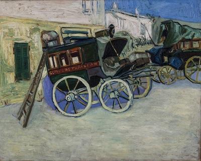 La diligencias de Tarascón - Copia de cuadro homónimo de Vincent Van Gogh. Óleo sobre tela 72 cm x 91 cm