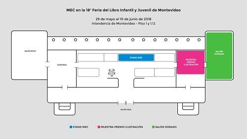 Plano del stand del mec en la Intendencia de Montevideo