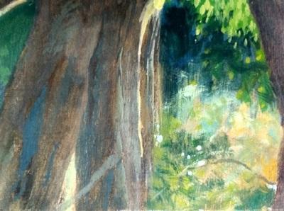 """Camino"" de Pedro Figari, detalle."