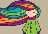 Niña con el cabello al viento