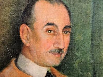 Carlos Aliseris. Retrato de Milo Beretta (detalle), óleo sobre tela, 80 x 67 cm , 1934. Colección Biblioteca Nacional del Uruguay.