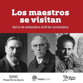 Afiche de la expo con las fotos de los tres artistas