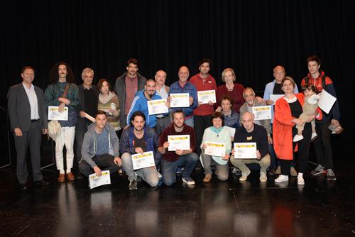 Grupo de personas ganadoras de los Premios de Música