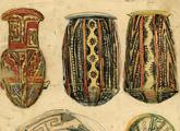 bocetos de urnas de la cultura santamariana