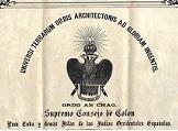 Diploma de grado 33 masón de Pedro Figari