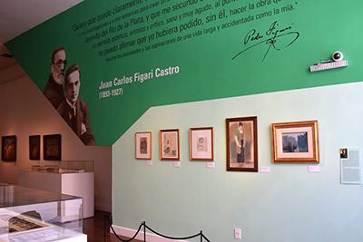 Nueva expografía, sector dedicado a Juan Carlos Figari