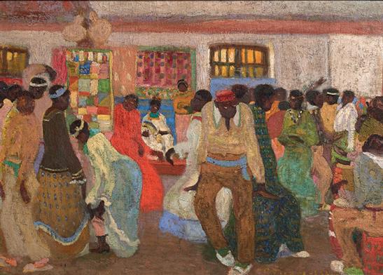 Pedro Figari. Candombe, óleo sobre tela, 56 x 78 cm, 1921