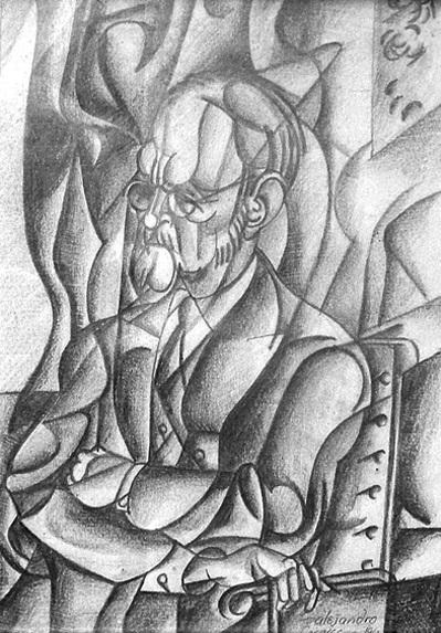 "Alejandro Casares""Figari"" Lápiz sobre papel, 26 x 17,5 cm. 1962"