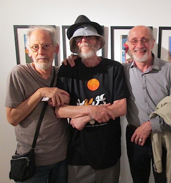 Ernesto Vila, Alejandro Casares y Haroldo González en el Museo Figari, 15 de diciembre 2015.