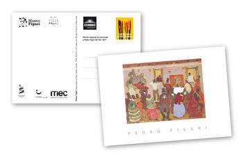 """Postal conmemorativa del Correo Uruguayo con """"Candombe"""""""