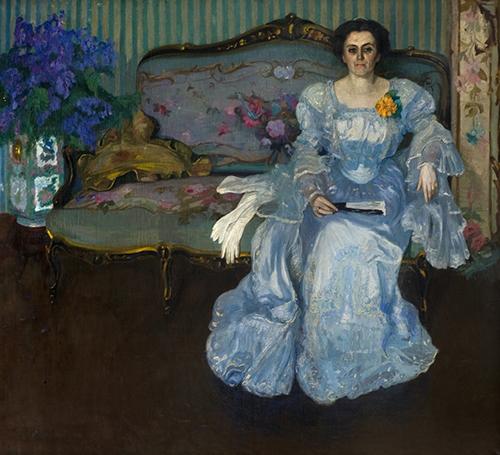 Pedro Blanes Viale. Retrato de la Sra. Maria Castro de Figari. 1907