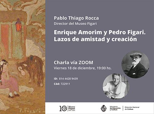 Charla Amorim y Figari. Lazos de amistad y creación