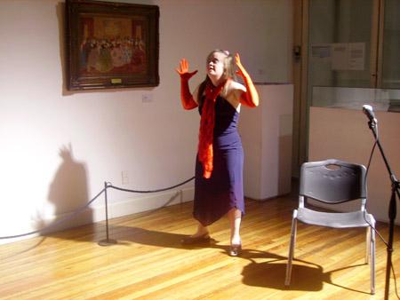 Natalia Lambach en Museo Figari