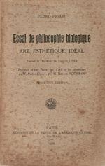 Pedro Figari. Essai de philosophie biologique