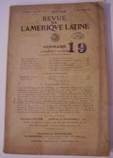 Revue de L´Amerique Latine