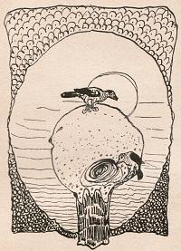 Dibujo de Pedro Figari para la portada de El Arquitecto