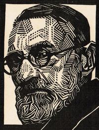 Retrato de Pedro Figari por Víctor Delhez