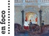 Detalle de la pintura de Pedro Figari: Llega la góndola