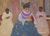 cuadro de Pedro Figari. Dama antigua
