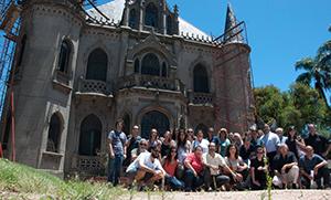 Foto del encuentro en el Castillo Soneira