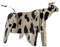 Doña Antonia, la vaca. Imagen de escultura de J. J. Nuñez