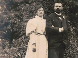 foto con su esposa