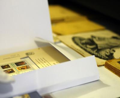 Carpeta para guardar planchas para sellos