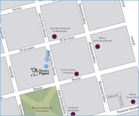 mapa de la ubicación del Museo Figari