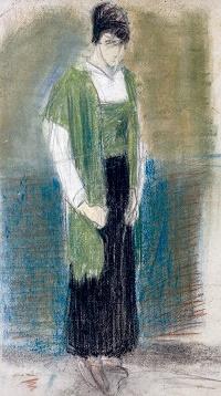Pastel sobre cartón, 61 x 36 cm c. 1915. Hacia 1915-18.