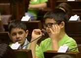 Niños/as en el Parlamento