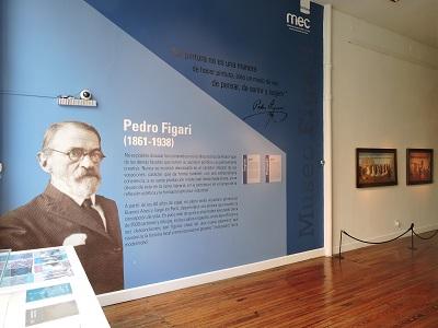 Gigantografía en la entrada del museo